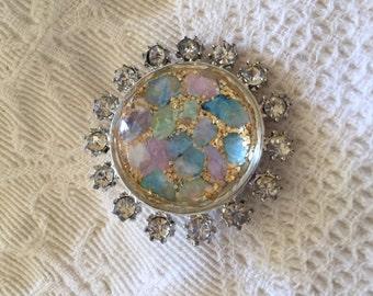 Confetti Glitter Rhinestone  Colorful Brooch