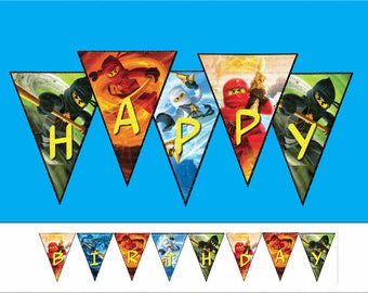 INSTANT DL- Ninjago Happy Birthday Banner (non persoalized)