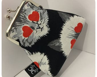 Love struck kitty coin purse by The Cat's Corsets