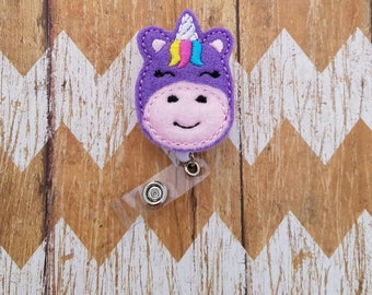 Unicorn badge reel, nurses badge reel, badge reel, id badge reel, nurse badge, felt badge reel, cute badge reel, badge reel nurse, unicorn