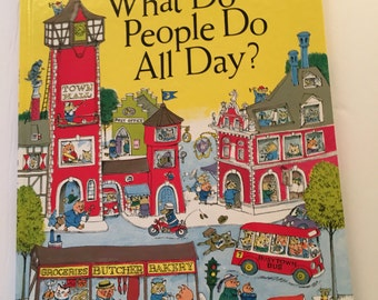 Richard  Scarry  what do people do all day SALE