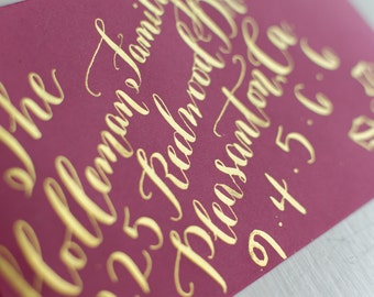 Calligraphy Addressing for Wedding/Invitation - Various Styles