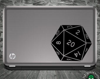 D20 Die Decal