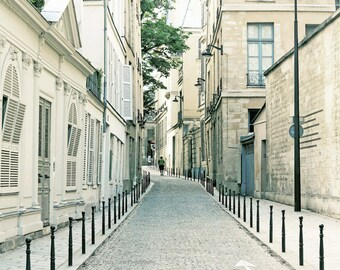Paris Photography, Wall Art Print, Cobblestone Street, Paris Photo, Wall Decor, France Picture, Europe Photograph, 8 x 10, 11 x 14 Print