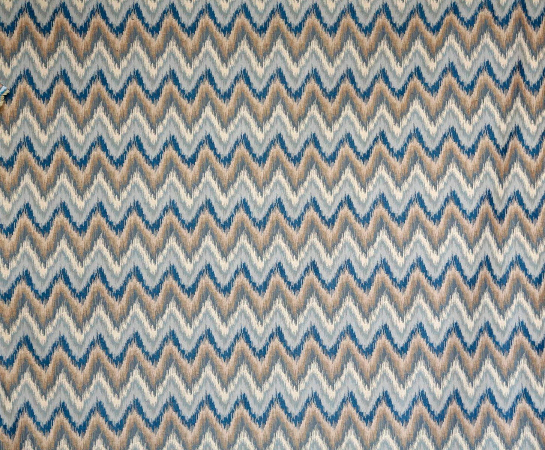 Ikat Chevron medium weight upholstery decor fabric -seafoam green ...