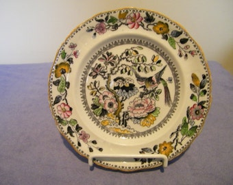 Antique Hanley Ashworth Bros. England Floral Plate