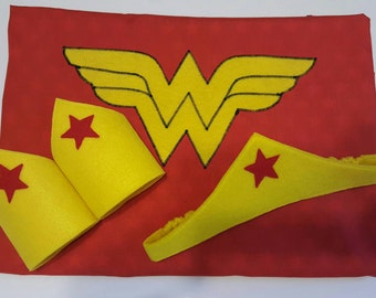 Wonder Woman Cape, Crown or Cuffs, Superhero Cape