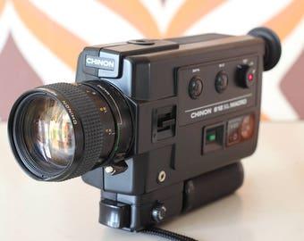 Chinon 612 XL Macro retro vintage super 8 kodak Agfa 8mm movie cine film camera 1980s