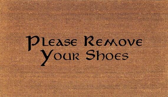 Please remove your shoes doormat coir door mat rug large - Remove shoes doormat ...