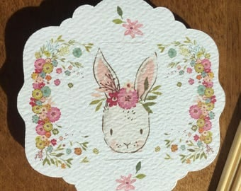 8 Sweet Bunny Cupcake Toppers