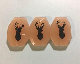Black Deer Head Bangle Beads, champagne beads, deer jewelry, black beads, deer jewelry, deer necklace, bangle beads, bracelet beads