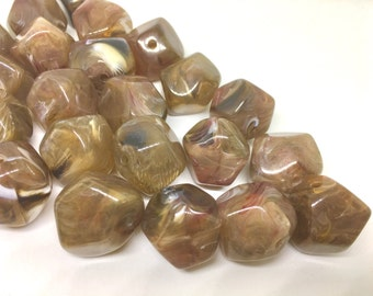 Brown Beads, Smoke, Acrylic Beads, The Jet-Setter Collection, 22mm beads, Colorful beads, Multi-Color Beads, Gemstones, Chunky Beads