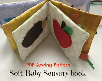 Sensory Baby Book Toy Sewing PDF Pattern, Quiet Book Pattern for Babies, DIY Personalized Gift