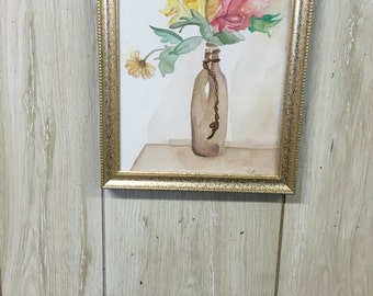 SOLD please do not buy Floral vase- home decor- original painting