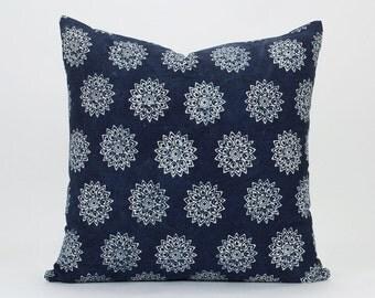 Hmong Indigo Pillow Handspun Indigo Batik Throw Pillow Cover / Cushion Cover : 20x20 | Indigo Pillow, Batik Pillow, Hill Tribe Pillow Cotton