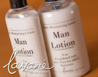 Man Lotion, Men's Lotion, 50 Shades Lotion, Daily Lotion, Lotion For Men, Aloe Vera Lotion, Manly Lotion, Handmade Men's Lotion, Hand Lotion