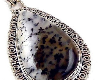 DENDRITIC Opal PENDANT natural stone, dendritic Opal pendant, dendrite Opal jewelry, y47.9