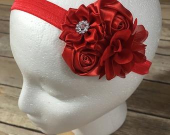 Red mini flower headband