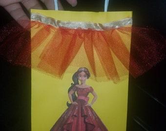 Elena of Avalor Goodie Bags Loot Bags Party Bags Favor Bags pack of 10 Yellow Bags Princess Red Gold Dressy