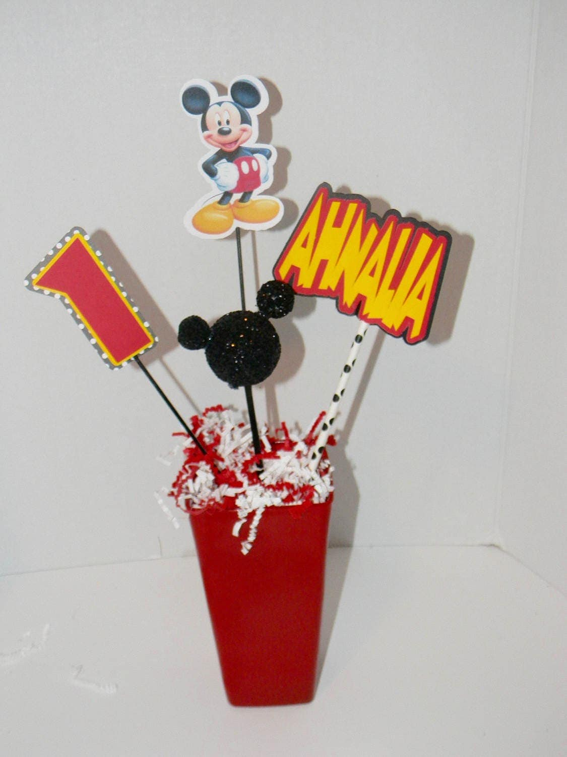 Personalized Mickey Mouse Clubhouse Centerpiece Mickey Mouse