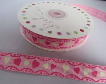 Pink Heart Ribbon