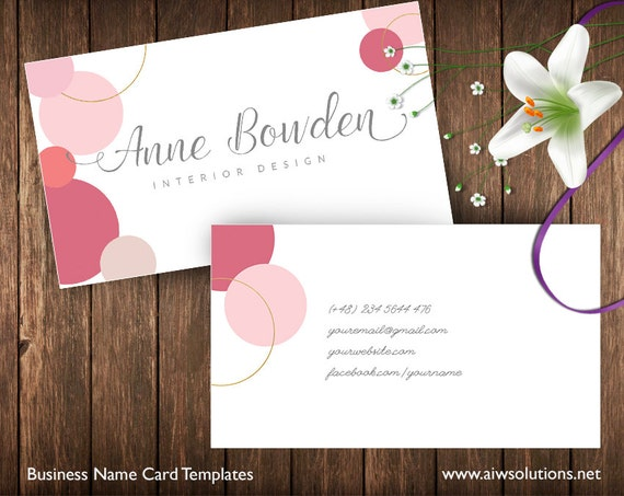 Business Cards Printable Name Card Template DIY Business