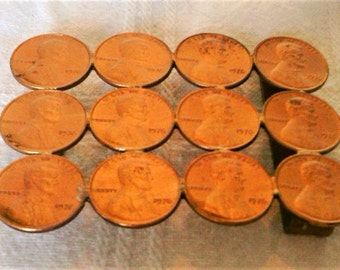 """Vintage Copper Belt Buckle Made Out of """"Pennies?"""""""