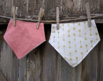 Baby and Toddler Bibdana Bib, Drooler Bib Baby Girl Arrows
