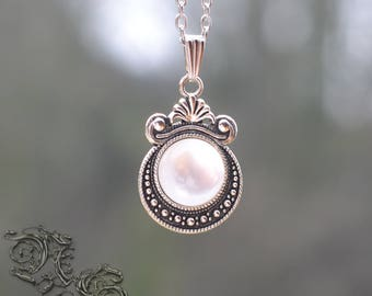 "Necklace ""Galactys"" - white version - Medieval, fairy"