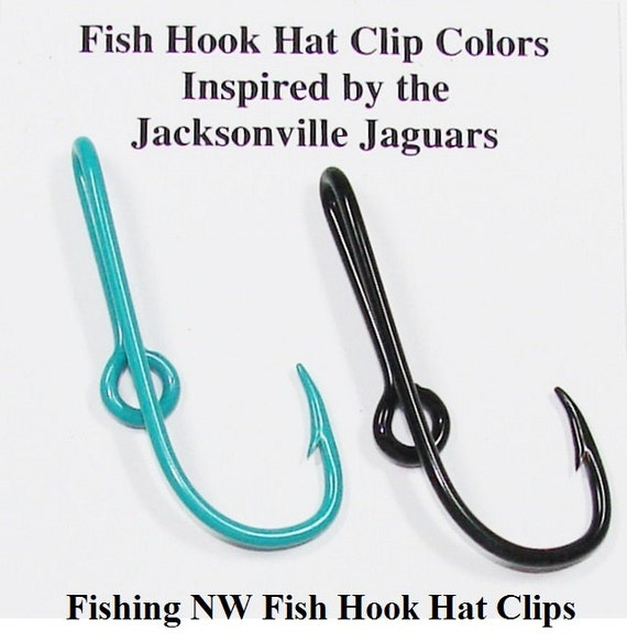 Jacksonville jaguars inspired colored fish hook hat by for Fish hook on hat