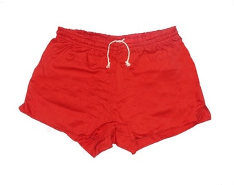 Genuine Ex-Army Shorts NEW red vintage 1980s german military PT hot pants retro sports gym NOS