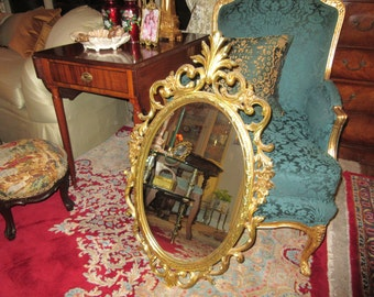 Hold for Yareen Reyes.  Please do not purchase.  SYROCO OVAL MIRROR Wall Hanging