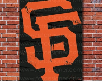 San Fransisco Giants Graffiti- Art Print - Perfect for Mancave
