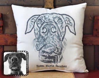 Custom Photo Pillow, Picture Pillow, Great Dane, Dog Pillow, Custom Pillow, Personalized Pet Pillow, Pet Pillow, pet memorial, dog gift