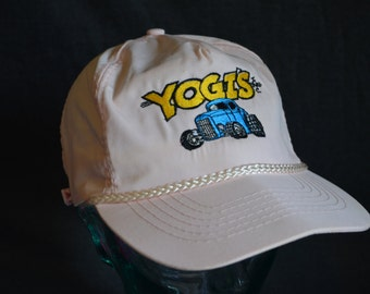 Vintage Yogi's Inc; Muscle Cars, Rods and Classics White Adjustable Baseball Cap Hat (One Size Fits All)
