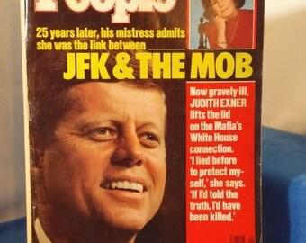 """Vintage People Magazine Feb. 29, 1988 Titled """"JFK & the Mob."""""""
