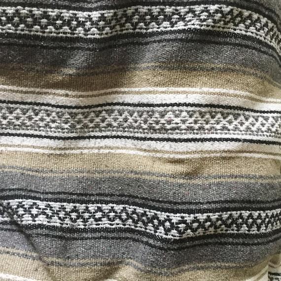 Vintage Mexican Falsa Blanket Beige By NorthernSunTextiles