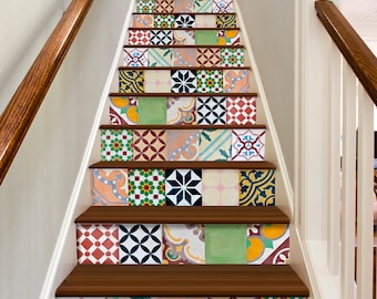Floor Tiles - Wall Tiles - Tiles for Stairs - Tile Decals - Tile Stickers - Kitchen Tiles - Bathroom Tiles - Pack of 30 - SKU:PADDA