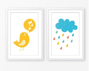 Children wall art set,kids poster,nursery poster,kids room decor,digital download,nursery print pack,baby boy room decor,nursery poster