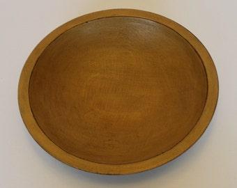 Vintage Wood Bowl, Painted Wood Bowl