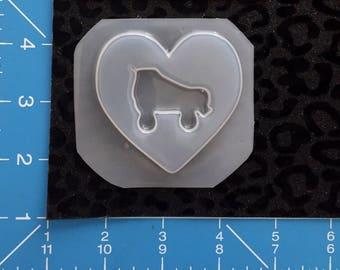 Skate heart mold