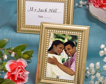 Gold Place Card Holder Favor  Frames (Pack of 5) Wedding Reception Supplies