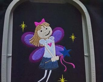 Kids Fairy Hoodie Heavyweight Hooded Sweatshirt with Zip up front Child Children. Derica the Fairy
