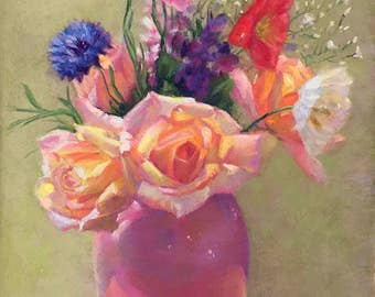 Original Art Floral Still Life ArtEqualsJoy