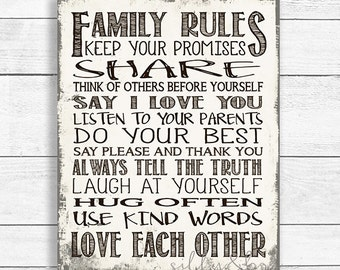 Family Rules, Personalized Family Rules, Printable Family Rules, DIGITAL FILE ONLY