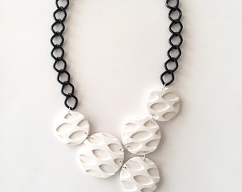 Nina Garcia inspired piece. Handmade polymer clay necklace inspired by what Nina was wearing on Project Runway