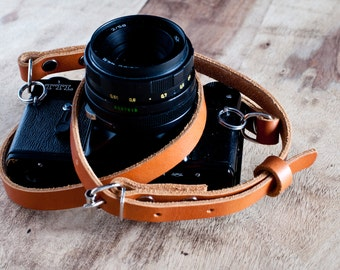 Adjustable Leather Camera Strap,Nikon camera strap,Canon camera strap,vintage camera strap,retro camera strap,Leica strap,dslr camera