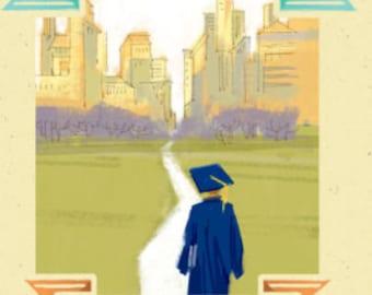 Graduation Card, Greeting Card, Grad Greeting Card, Graduation Card, College Grad, Card for GrandSon