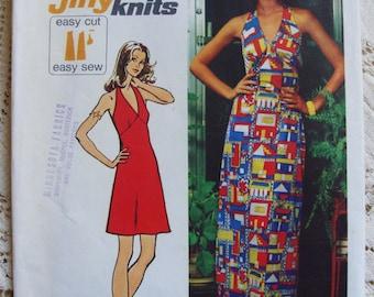 Vintage Simplicity Pattern #5558 * 1970's Boho Halter Dress * Size 10