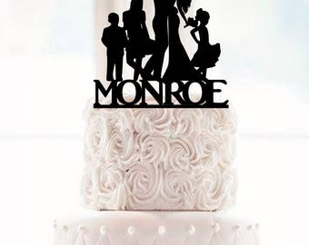 family silhouette wedding cake toppers and groom silhouette wedding cake topper with a crawling 14183